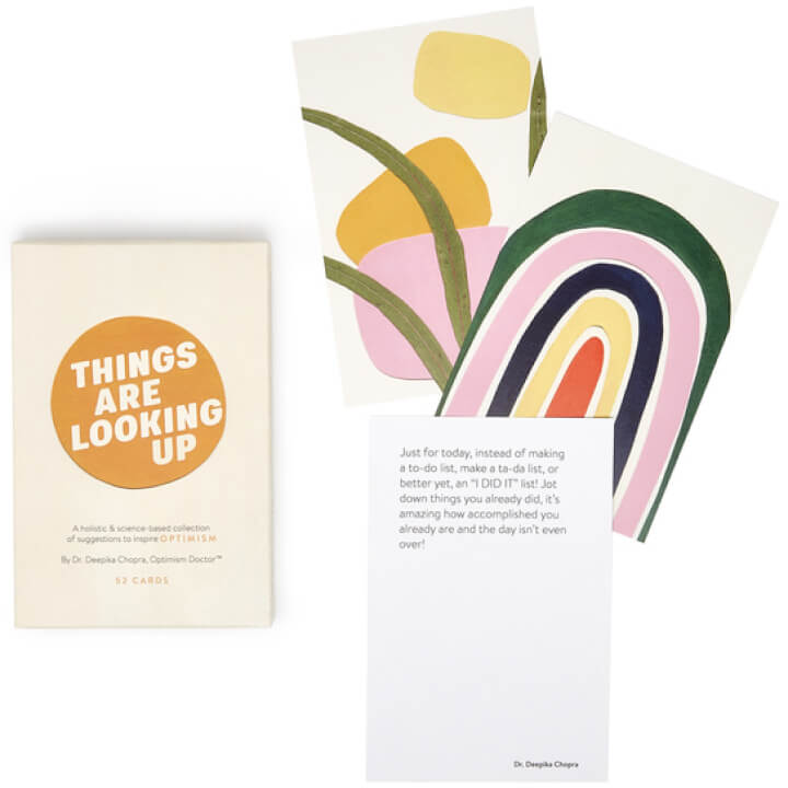 Things Are Looking Up Optimism connected  Deck goop, $40