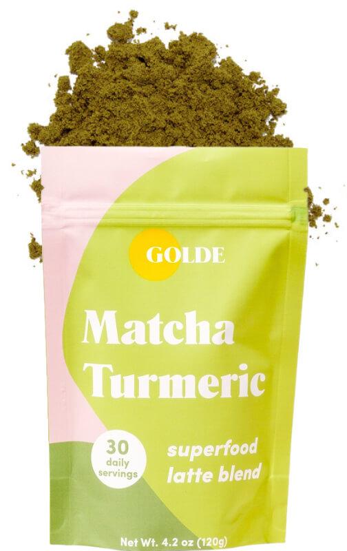 Matcha Turmeric Latte Blend goop, $29