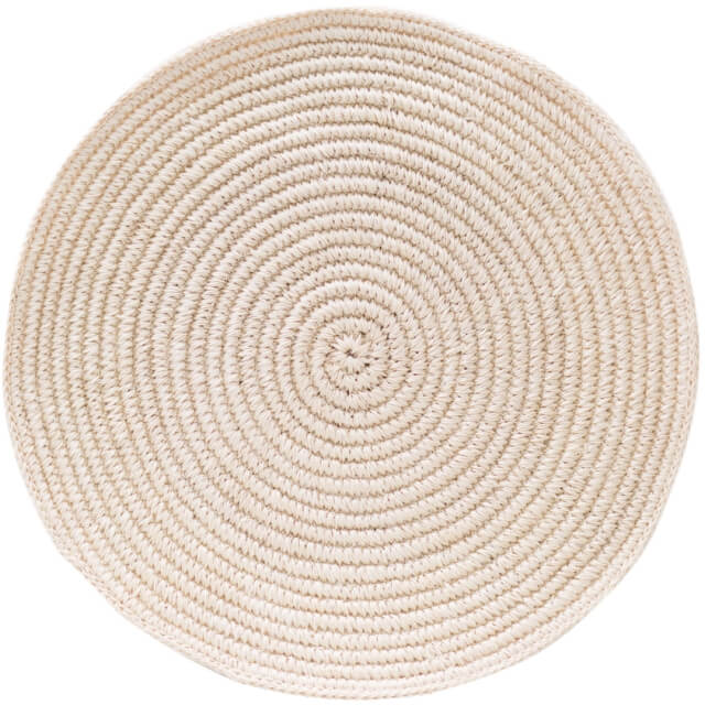 Fique + Clay Woven Placemat in Blanco, goop, $24