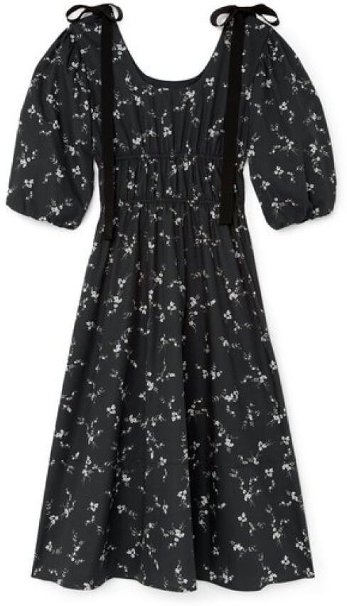 G. Label Beverly Mid-Length Bow Dress