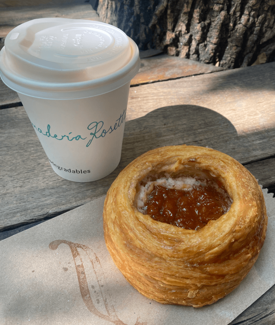 guava pastry with coffee