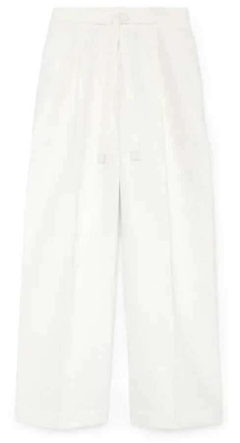 G. Label Henry Cropped Pleat-Front Pants goop, $494