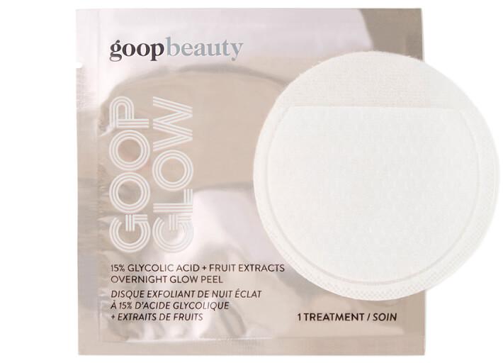 goop Beauty GOOPGLOW 15% Glycolic Acid Overnight Glow Peel - 4-Pack, goop, $45